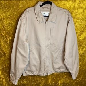 Orvis Weathered Twill Escape Tan Lined Jacket sz L